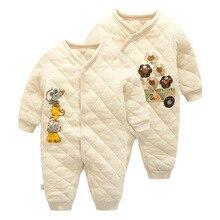 2016 autumn winter Baby Rompers Pajamas Boys Girl font b Organic b font cotton font b