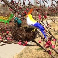 about 12cm colourful feathers bird foam material artificial bird model handicraft garden decoration Performance toy gift a2007