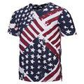 Mr.1991INC Cremallera de La Manera Camiseta de Los Hombres/Mujeres Pintura Camisetas EE. UU. Bandera de Impresión 3d Camisetas Del Verano Rematan Camisetas A Rayas camiseta