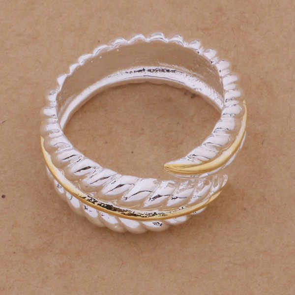 Nice&Nice Color Ring Trendy Feather Opening Ring For Women Men AR264