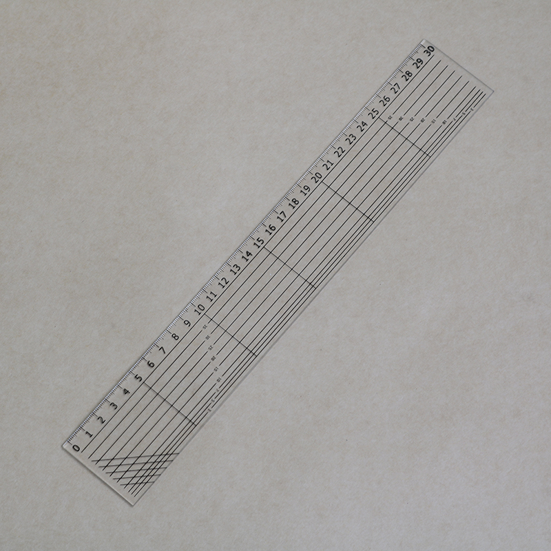30cm* 5mm Graphic Transparent Ruler Plastic Ruler Children'S Student Mark Painting Stationery School Office Supplies
