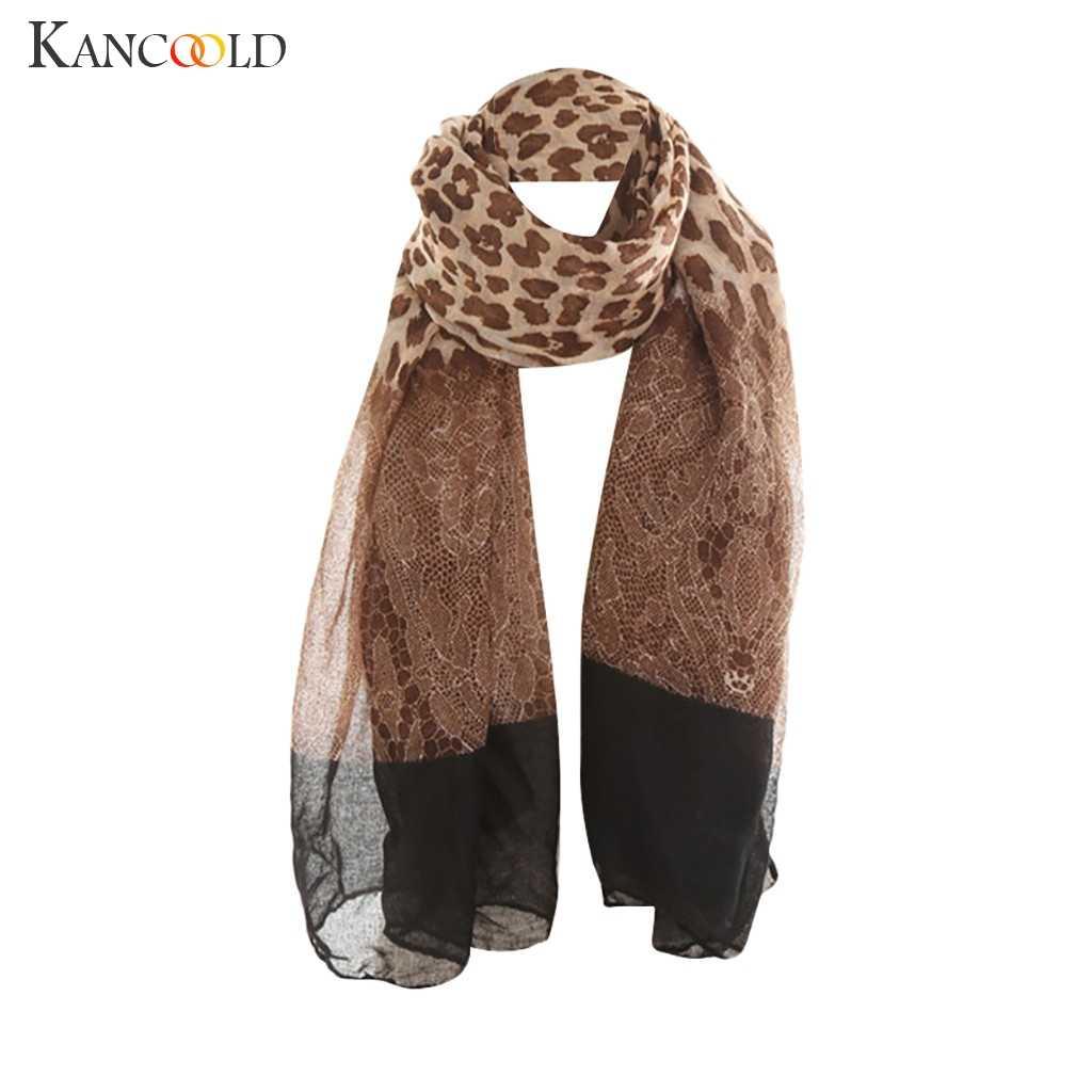 Kancoold cachecol feminino senhoras maple leaf impressão padrão laço longo cachecol quente envoltório xale moda casual cachecol feminino 2018nov20