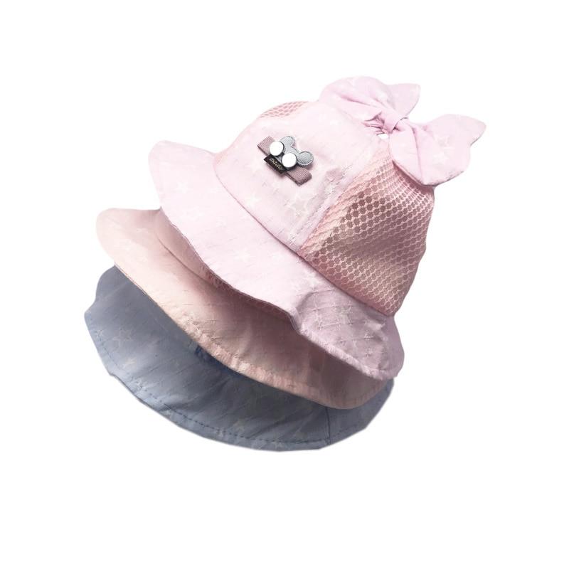 Newborn Baby Girls Kids Summer Princess Infant Flower Sun Cap Cotton Bucket Hat