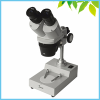 WF15X industry Top Light Binocular Stereo Microscope with Total Magnification 30X 60X for Student Educational Watch Repairing