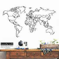 Sticker mural carte du monde moderne pour décor de chambre enfants chambres bricolage décoration de chambre vinyle Art décalque papier peint peintures murales