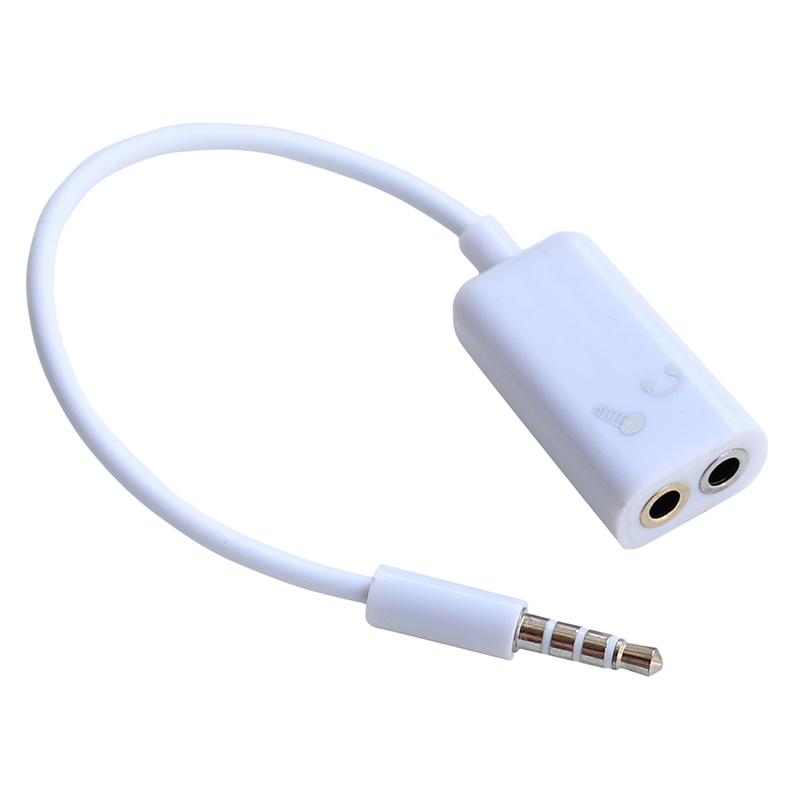 3 5mm Splitter to Earphone Headset Microphone Stero cable for PC iPhone Mobile Phone Pad