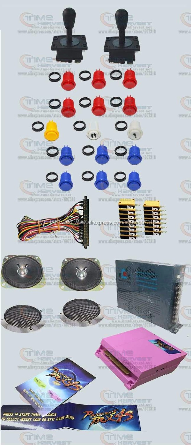 Arcade parts Bundles kit With 815 in 1 Pandora Box 4S american style Joystick american style buttons Microswitches Jamma Harness hdmi vga pandora box 4s arcade game board 815 in 1 with 28 pin harness for arcade mechine diy arcade kit