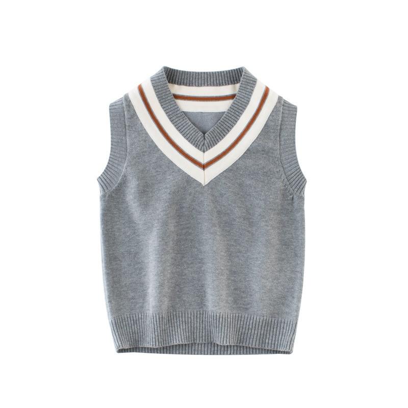 6ebee19c9 2017 Autumn New kids vest boy girl Print French fries pattern Sleeveless  sweater baby toddler fashion warm Children s clothing