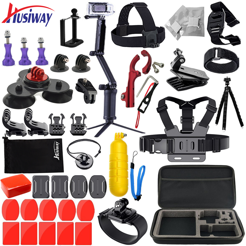 Husiway Accessories kit for Gopro Hero 5 6 Black Edition 4 3 Session Set for SOOCOO