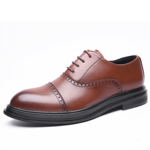 Fashion Vintage British Style Casual Men Shoes Oxfords Business Man Flats Footwear Breathable Comfortable Outdoor