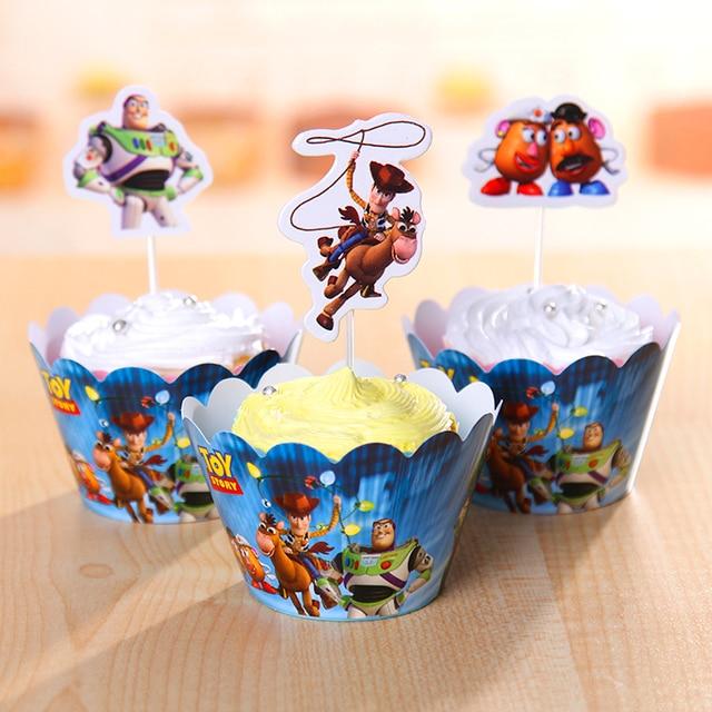 120 pcs nouveau parti anniversaire d\'enfants décoration Toy Story ...