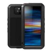 מתכת שריון מקרה עבור Sony Xperia 10 מקרה 360 עמיד הלם מלא גוף כבד החובה מגן כיסוי עבור Sony Xperia 10 בתוספת כיסוי