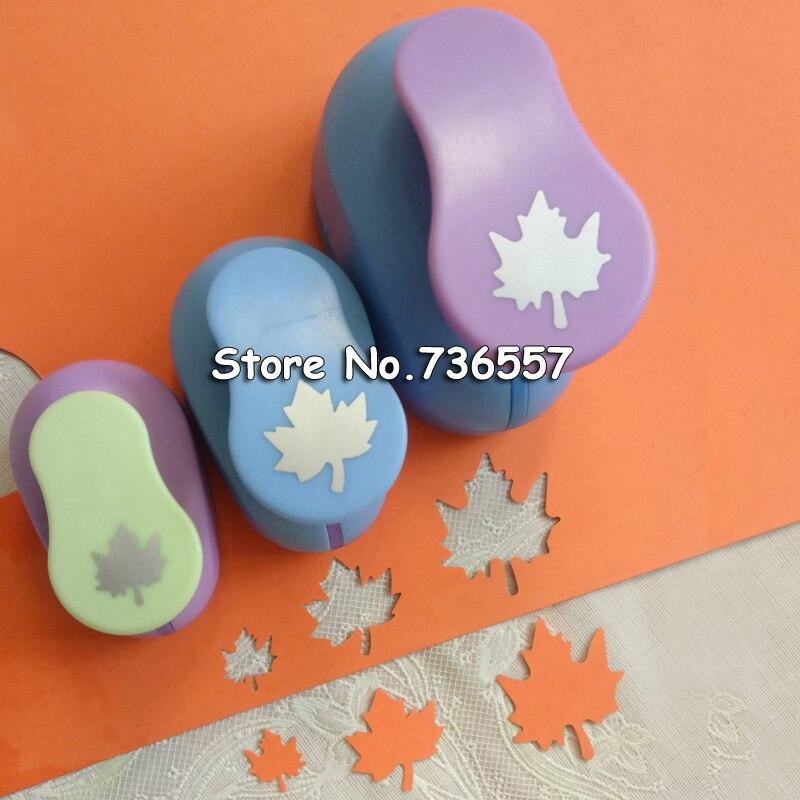 все цены на 3PCS(5cm,3.8cm,2.5cm) Maple Leaf craft punch set children manual DIY hole punches cortador de papel de scrapbook Maple punch