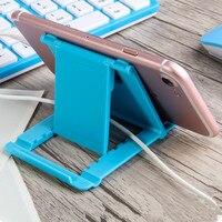 Telefon Halter Schreibtisch Stehen Für Ihre Handy Stativ Für iPhone Xsmax Huawei P30 Xiao mi mi 9 Kunststoff Faltbare schreibtisch Halter Stehen-in Handy-Halter & Ständer aus Handys & Telekommunikation bei