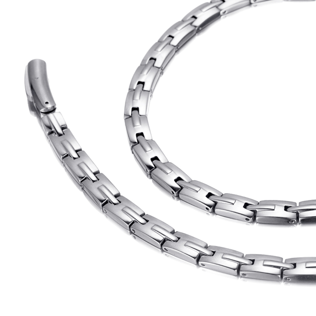 HTB1bBHEhyMnBKNjSZFzq6A qVXaa - Necklace Stainless Steel Health Magnetic Therapy Hematite Power