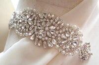 Crystal Applique Rhinestone Applique Bridal Sash Applique