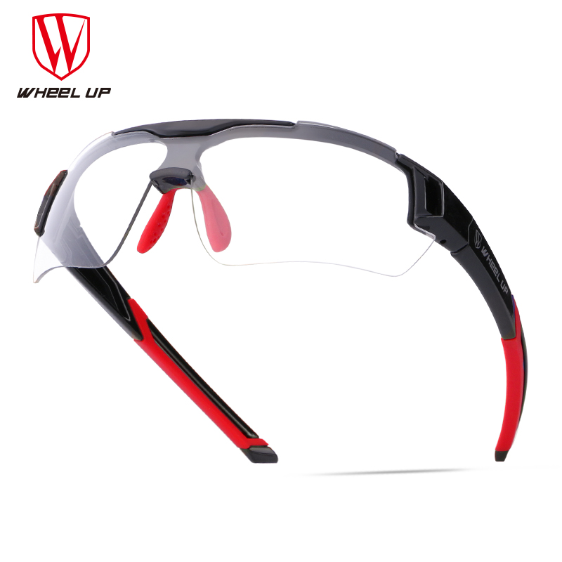 WHEEL UP Discolor Cycling Glasses Polarized Photochromic Outdoor Sports Myopia Frame Bike Sunglasses Bicycle Goggles Eyewear rockbros polarized photochromic cycling glasses bike glasses outdoor sports bicycle sunglasses goggles eyewear with myopia frame