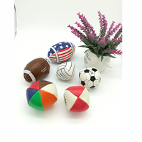6 pcs Bola de futebol do PLUTÔNIO sentidos tátil do bebê brinquedo Do Bebê toque mão bola brinquedos de treinamento do bebê Massagem bola macia Crianças Natal presente