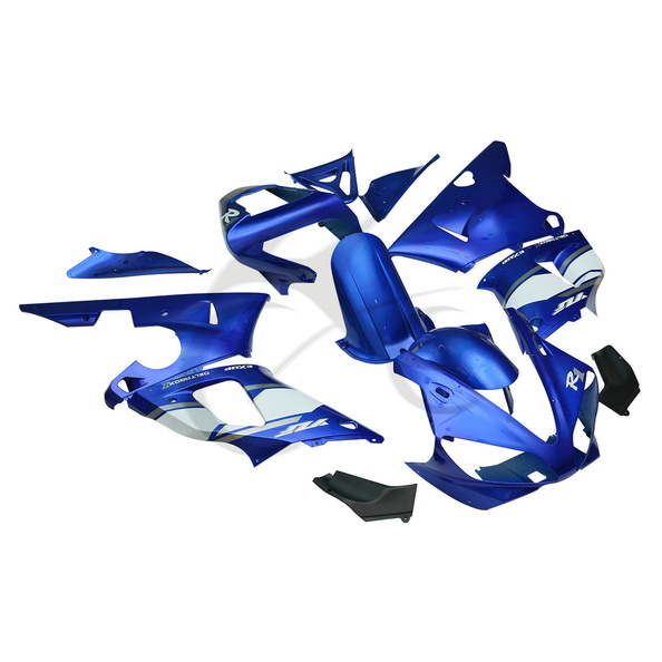 Motorcycle Blue ABS Plastic Full Fairing Bodywork Kit For Yamaha YZF R1 YZF-R1 1000 2000-2001 13A white blue abs fairing bodywork kit for yamaha fzr250 fzr 250 3ln 1990 1992 91
