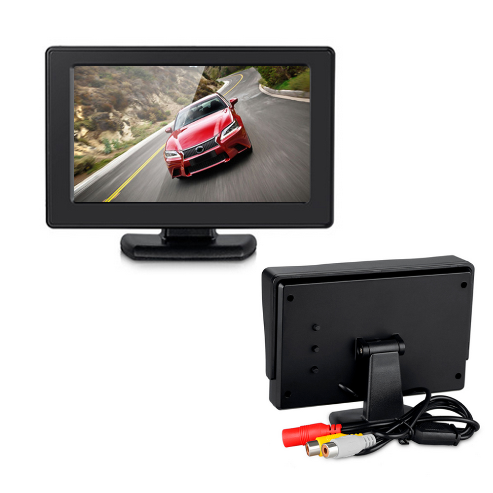 4.3'' Color TFT LCD 2-Channel Video Input Car Rear View Monitor Vehicle Auto Car Rearview Reverse Monitor Parking For DVD VCD 7 inch tft lcd color auto car monitor 2 video input car rear view parking monitor wireless 10 ir car rear view reverse camera