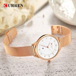 Image 2 - Curren 9035B Fashion womens watches Stainless Steel Gold watch women Curren Hot Selling Ladies Watch Quartz women watches