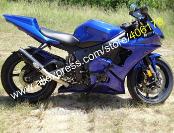 Motorcycle Fairings Kit For YZF R6 2005 YZF600 05 YZF R6 All Blue ABS Plastic fairing Set (Injection molding)