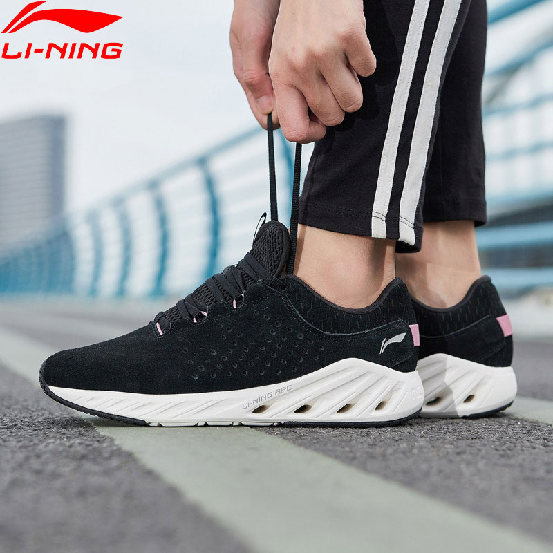 Li Ning Women LN ARC 2018 V2 Cushion Running Shoes Light Weight Warm LiNing ARC Wearable