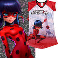 2017 Sleeveless Clothing Kids Girls Summer Red Cute Cartoon T-Shirt Miraculous Ladybug Girls Dress Supers episodes