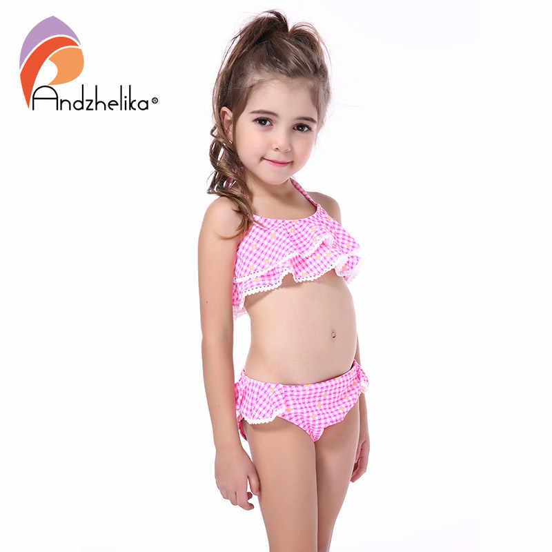 d7acdd1b789 Andzhelika New Children's Swimwear Cute Heart Bikini Girls Summer Swimsuit  Beach Kids Swimwear Child Sports Bathing Suit AKZS56