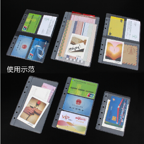 2PCS Binder Binder Multifunction Kit A5 A6 A7 B7 This Essential Accessory 6 Hole Loose-leaf Paper Bags