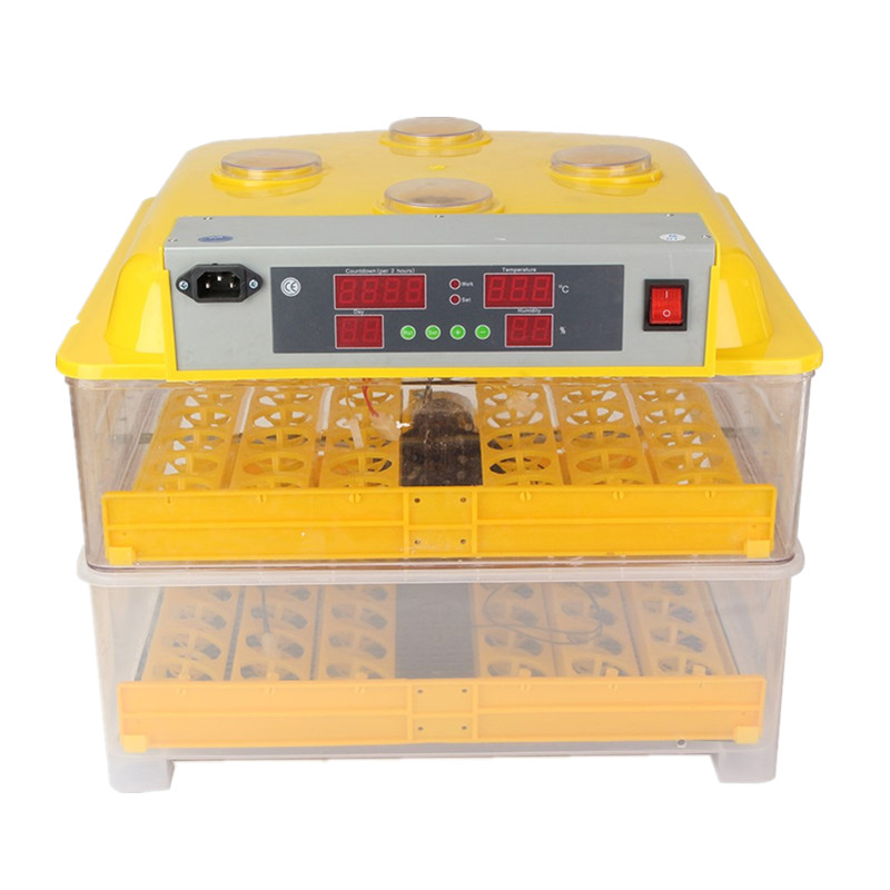 Cheap Price Mini Chicken Egg Incubator Fully Automatic 96 Eggs Transparent Incubator High Hatching Rate