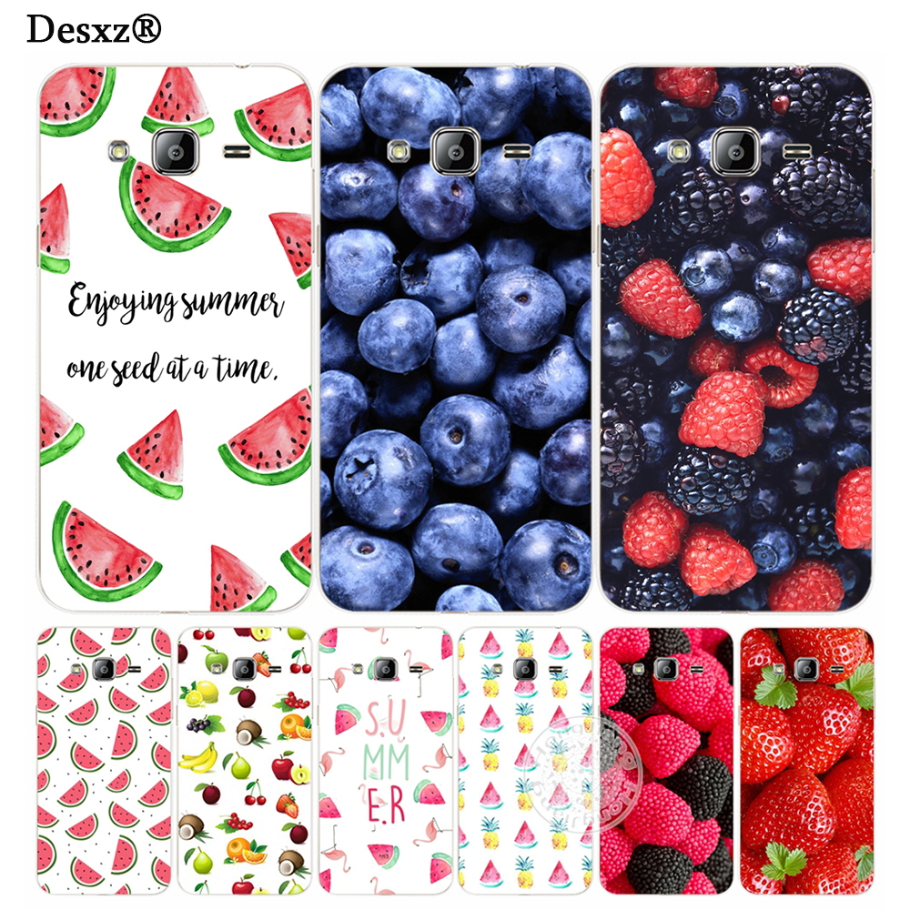 Desxz Cases fruit strawberry watermelon summer cover phone case for Samsung Galaxy J1 J2 J3 J5 J7 MINI ACE 2017 2016 2015