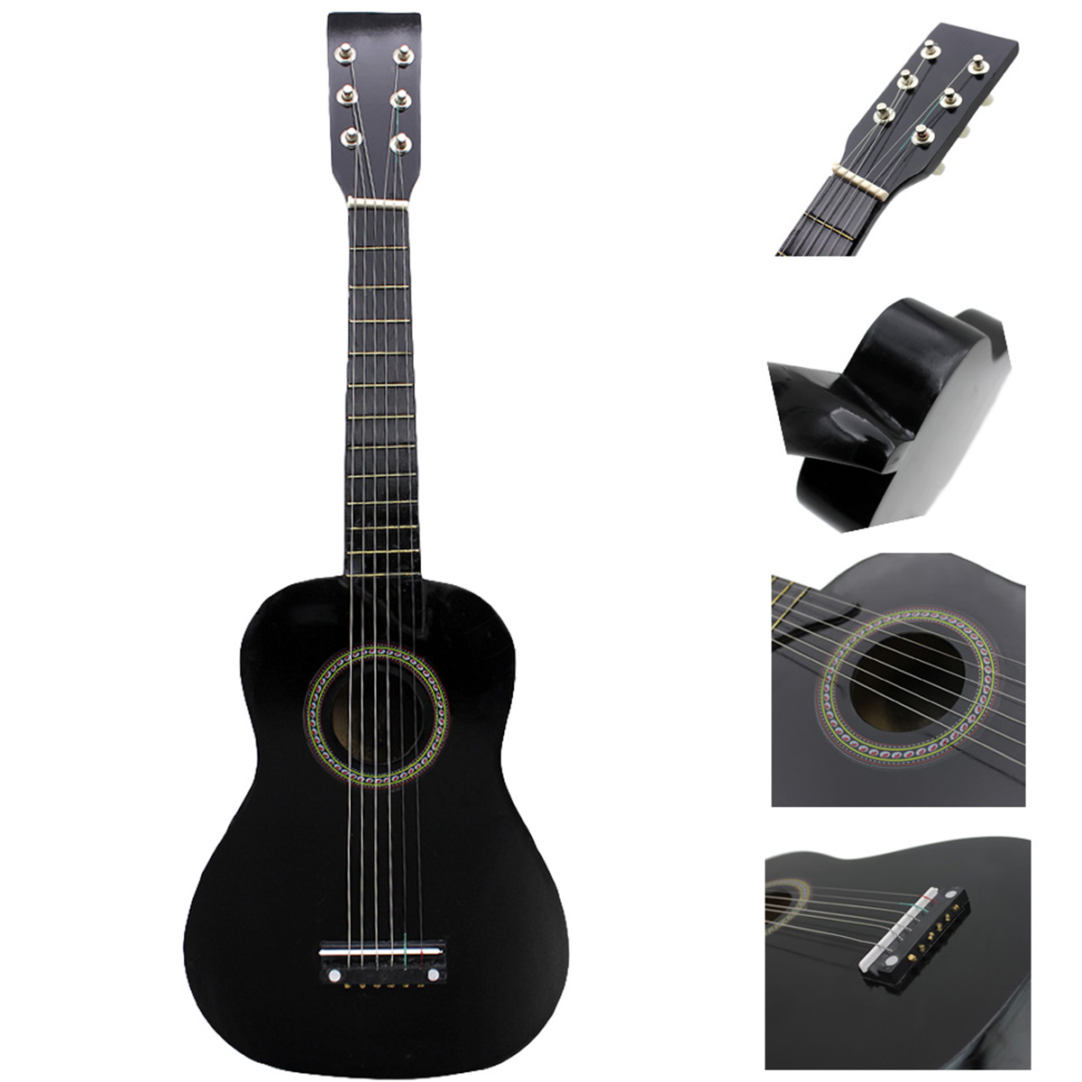 SEWS-IRIN Mini 23 Inch Basswood 12 Frets 6 String Acoustic Guitar With Pick And Strings For Kids / Beginners