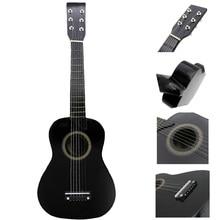 SEWS-IRIN мини 23 дюймов липа 12 Лады 6 строка акустическая гитары с палочки и струны для детей/начинающих