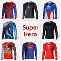 American hero Super hero The Amazing Spider-Man Iron Man Batman Men's T shirt long sleeved T-shirt
