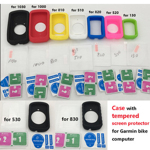 Generic skin Case w Tempered Screen Protector film for Garmin GPS bike Computer garmin edge 130 510 520 plus 530 830 820 1000(China)