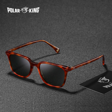 POLARKING Brand Classic Square Polarized Sunglasses For Men Travel Oculos Unisex Acetate Sun Glasses For Driving Fishing Eyewear