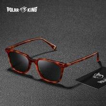 نظارات شمسية مستقطبة مربعة كلاسيكية من POLARKING للرجال نظارات شمسية للجنسين من خلات للسفر وصيد الأسماك