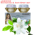New FEIQUE jasmine whitening and anti spot anti freckle cream 20g+20g 4set/lot face care