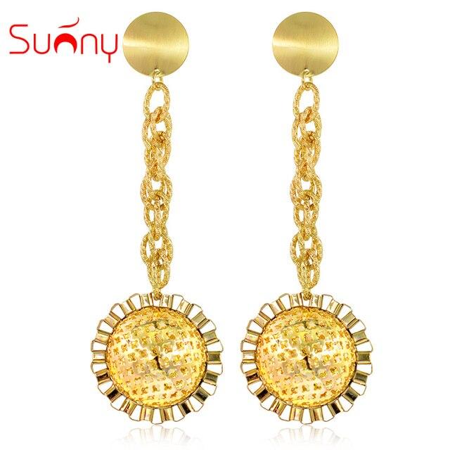 34f0c2298 Sunny Jewelry Ethnic Hanging Ball Earrings Women Big Earrings Long Drop  Dangle Earrings Exquisite Maxi Dubai