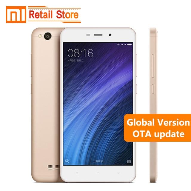 "Global Version Xiaomi Redmi 4A 4 A 2GB RAM 32GB ROM Cellphone 5.0"" Snapdragon 425 Quad Core Mobile Phone 3120mAh 13.0 MP Camera"