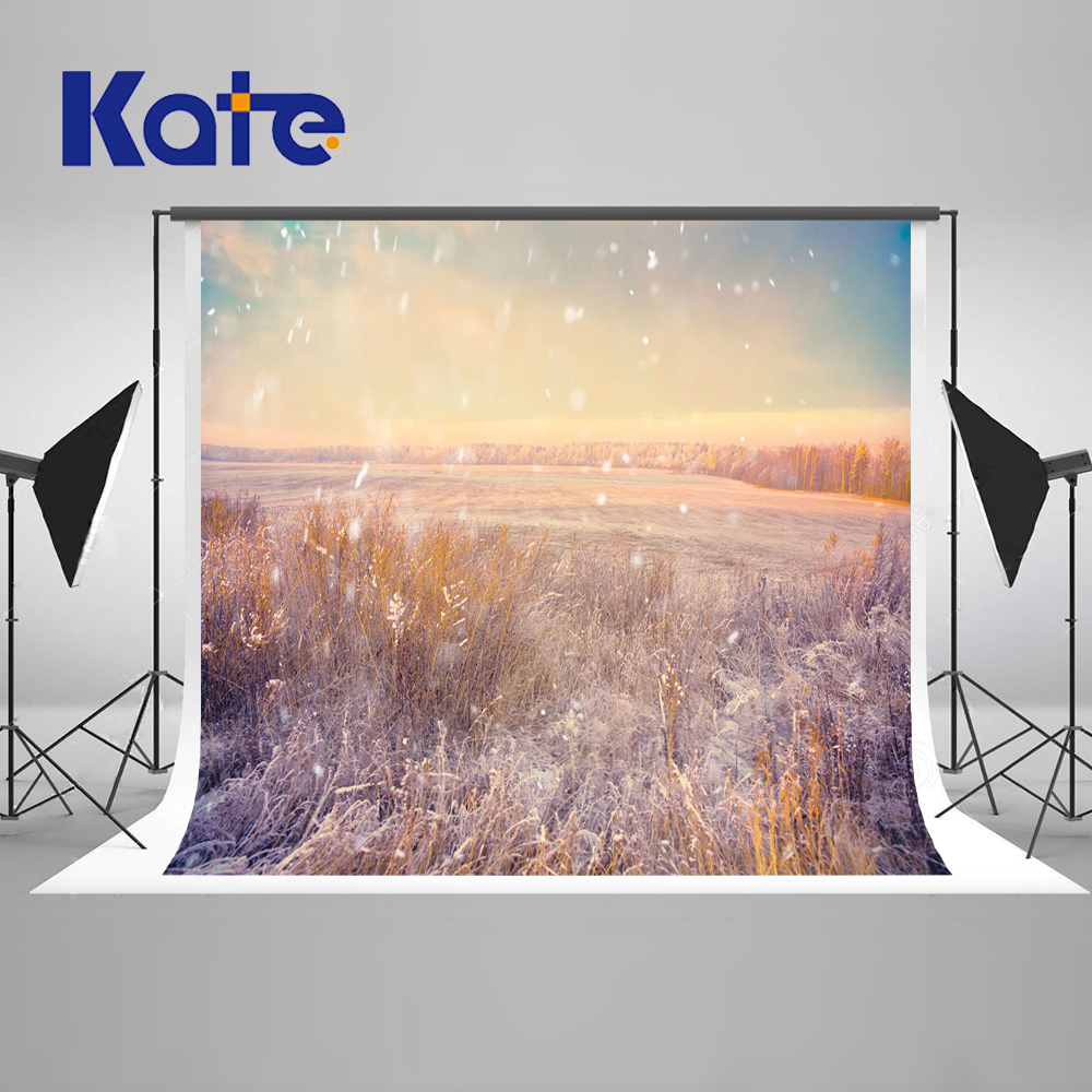 ФОТО 5x6.5FT Kate Bokeh Photography Backdrops Grass Backgrounds Snow White Photos Scenic Photo Backdrops