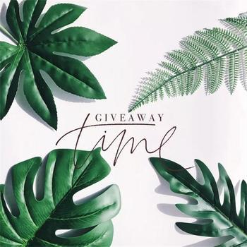 5pcs Fake leaves Green Plastic Artificial leaf Palm Island Style DIY Wedding Decoration Plant Photo props Party dec