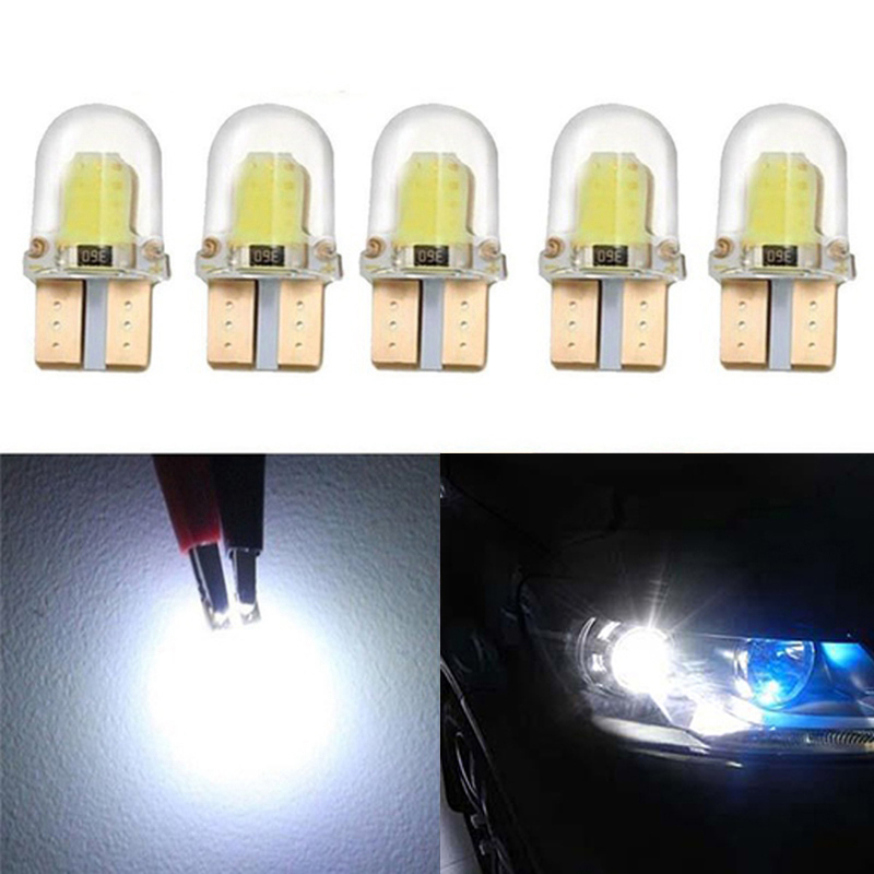 10pc LED T10 W5W COB SMD CANBUS Silica Bright White License Light Bulb