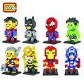 LOZ mini Block Action Figure Diamond Building Block Captain America Superman Spider Man Iron Man Hulk Diy For Children Toy 9152