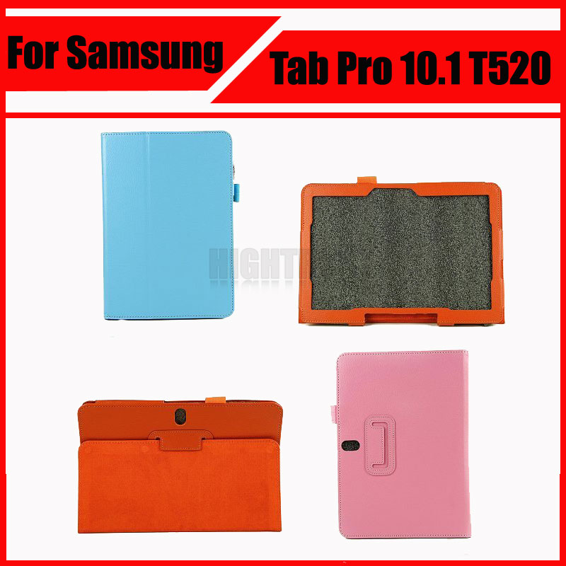 3 in 1 High Quality Pu Leather Tablet Case Cover For Samsung GALAXY Tab Pro 10.1 SM-T520 T520 T521 T525 + Screen Film + Stylus