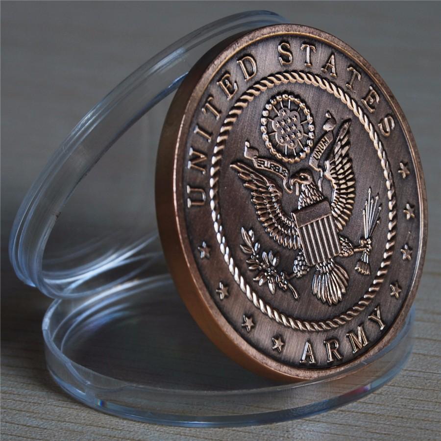 NEW US Army 72 Virgins Bronze Antique Challenge Coin (14)