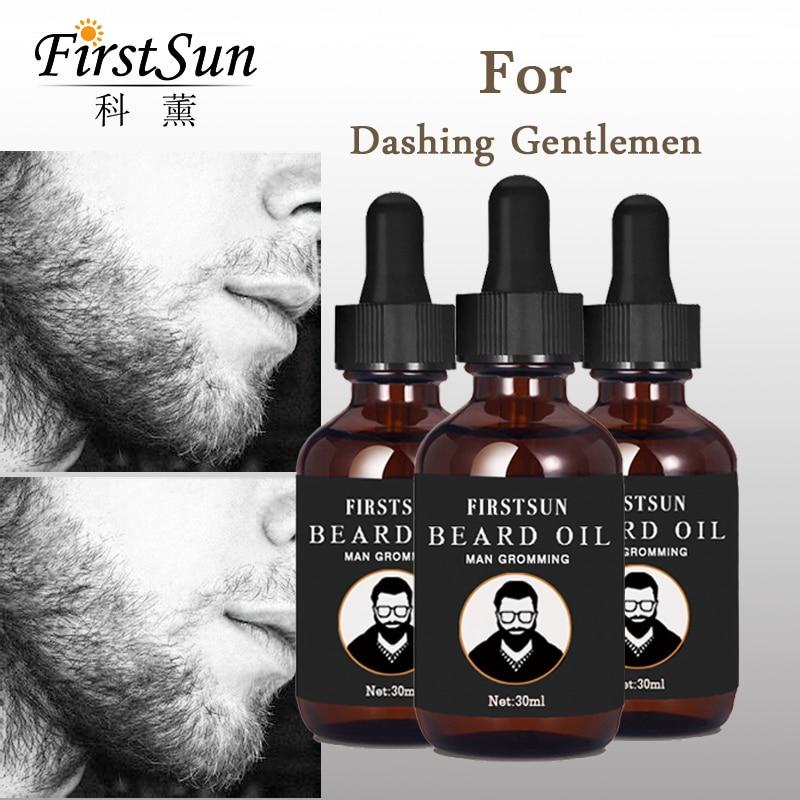 3pcs Firstsun Natural Organic Beard Oil Men Beard Growth Anti Hair Loss Product