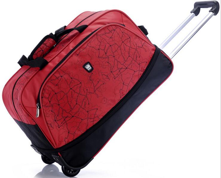 Здесь продается  2016 hot Purple / Red Waterproof Travel Bag Trolley Bag 20/24 inch High Capacity Travel Bag Luggage Handbag customized  Камера и Сумки