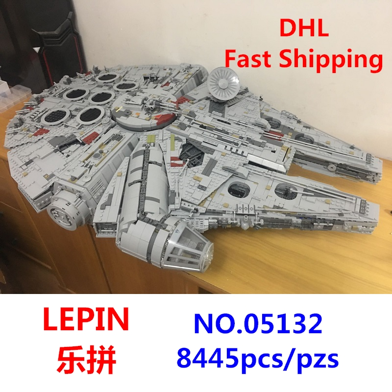 LEPIN 05132 Ultimate Collector's Destroyer Star Wars Millennium Set Falcon Building Blocks Compatible With Lego 75192 best gifts игровой набор mattel star wars tie fighter vs millennium falcon 2 предмета cgw90